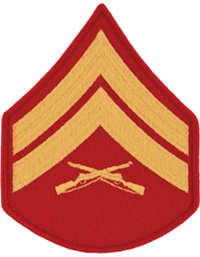 Gold/Red Male Chevron Corporal USMC (Pair)