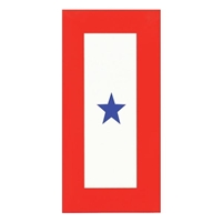 1 STAR SERVICE DECAL