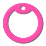 Solid Pink Dog Tag Silencer