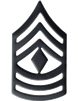 Black Metal Rank First Sergeant (E-8)