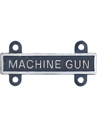 Silver Oxide Machine Gun Qualification Bar