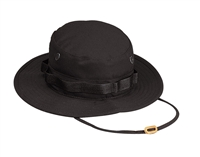 ROTHCO BLACK RIPSTOP BOONIE HAT