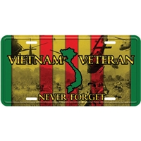 ENHANCED VIETNAM VET LICENSE PLATE