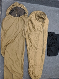 USMC 3 Season Sleep System - Sleeping Bag, Bivy Cover, & Mesh Bag