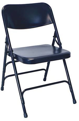 Blue Metal Folding Chair - Wholesale Prices