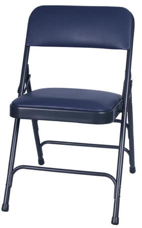 Charmant FREE SHIPPING 76+ BLUE VINYL PADDED METAL FOLDING CHAIR ...