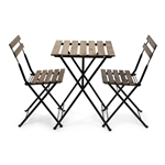 French Bistro Wood Chair Table Set