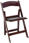 FREE SHIPPING MAHOGANY RESIN FOLDING CHAIRS