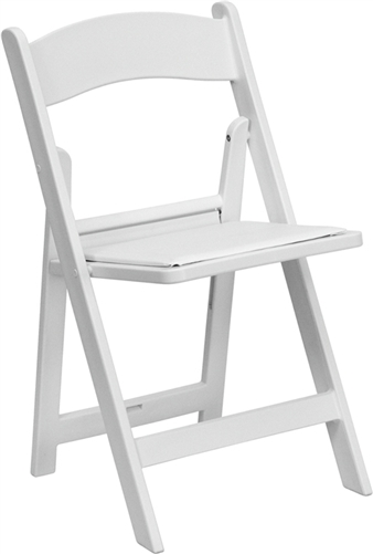 WHITE RESIN FOLDING CHAIR ...