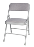 Gray Metal Fabric Folding Chair - Metal Funiture :: Wholesale Metal Folding Chairs