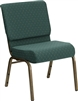 "Discount Chapel Chair Blue 21"" Wide"