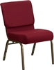 "Burgundy 21"" Chapel Chair, Cheap prices Church Chairs, Sanctuary Chairs"