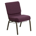 "Wholesale Burgundy Chapel Chair 21"" Wide"
