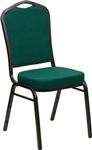 Green Fabric Crown Back Banquet Chair -Cheap Banquet Chairs Wholesale Prices