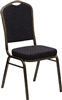 FREE SHIPPING BLACK FABRIC BANQUET CHAIRS