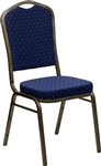 BLUE CROWN BACK CHAIRS