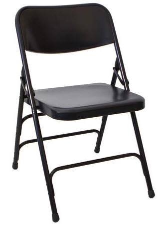 Bon Black Metal Folding Chair