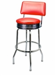 Single Ring Chrome Barstool