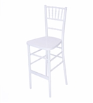 Fruitwood Chiavari Bar Stool White