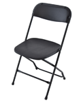 "Discount Chairs, Black Poly Chair, Wholesale  Folding chair, Folding Chairs, Georgia Folding Chairs, alt=""folding chairs, wood stacking chairs, resin folding chairs"