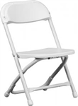 children White Plastic Folding Chair - Illionis Cheap Plastic folding chairs, White Poly Samsonite Folding Chairs, lowest prices folding chairs