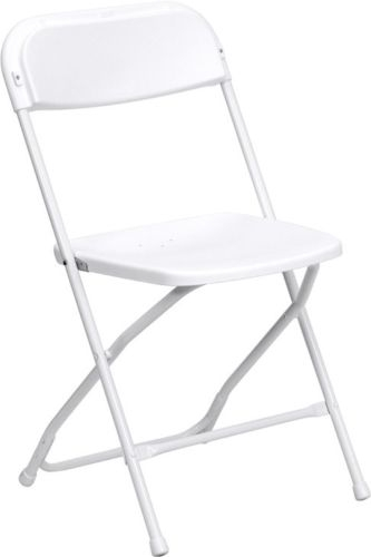 BUY White Plastic Folding Chair - Illionis Cheap Plastic folding chairs, White Poly Samsonite Folding Chairs, lowest prices folding chairs