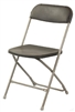 Charcoal  Plastic Folding Chair, Poly Brown Wholesale Chairs, lowest prices plastic folding chair