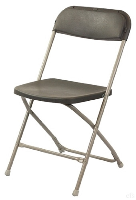 Hotel Charcoal Plastic Folding Chair Poly Brown Wholesale