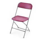 Burgundy Poly Wholesale Chair
