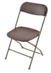 Brown Plastic Folding Chair,,INDIANA  Poly Brown Wholesale Chairs, lowest prices plastic folding chair