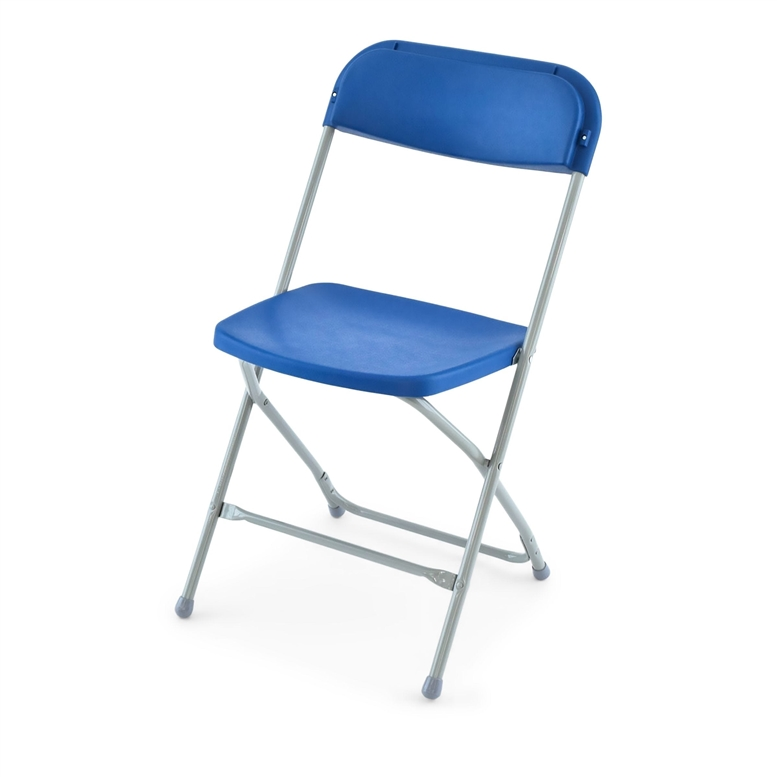 Free Shipping 100+   BLUE POLY FOLDING CHAIR ...