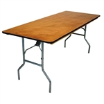 30 x 84 Wood Folding Table, Banquet Cheap Wholesale Tables, Lowest prices Plywood Table