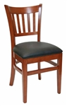 "<SPAN style=""FONT- WEIGHT:bold; FONT-SIZE: 11pt; COLOR:#008000; FONT-STYLE:"">Mahogany Vertical Restaurant Chair - Free Cushion <SPAN>"