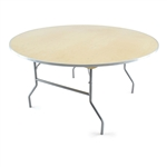 "60"" Round Wood Folding Table,  Florida Plywood Folding Tables, Lowest prices folding tables"