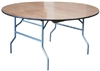 "60"" Round Wood Table - Cheap Wood Round Folding Tables 