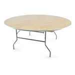 "72"" Round FREE SHIPPING Folding Table,  Florida Plywood Folding Tables, Lowest prices folding tables"