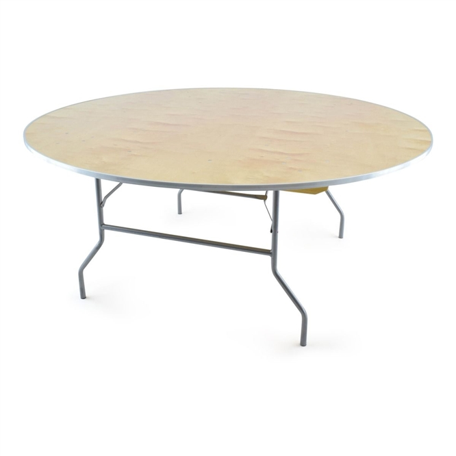 72 Round Wood Folding Table,  Florida Plywood Folding Tables, Lowest prices folding tables