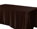 Chocolate 72 x 120 Satin Banquet Tablecloth