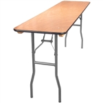 18 x 96 Wood Folding Table