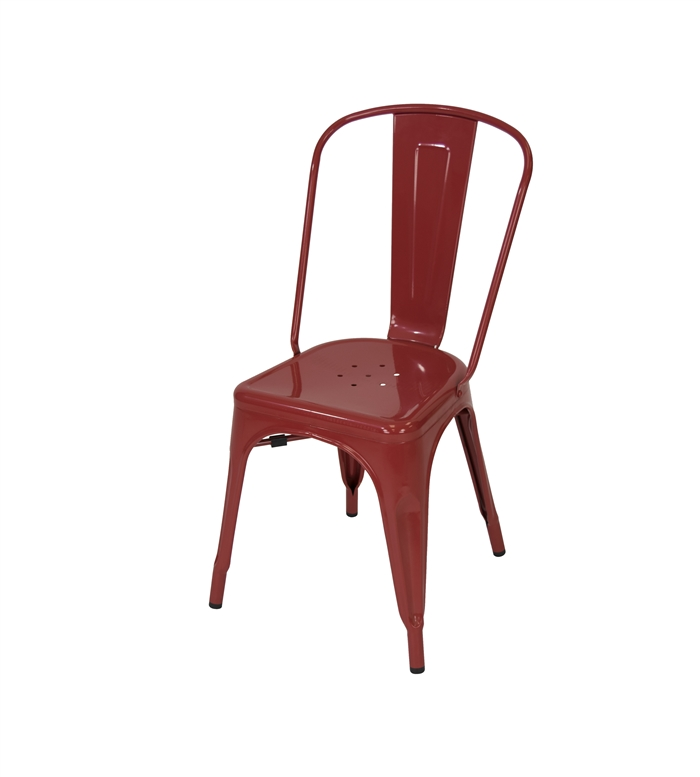 RED TOLIX METAL CHAIR ...