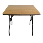 "48"" DISCOUNT SQUARE PLYWOOD FOLDING TABLES"