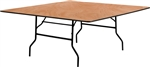 "60"" Square WOOD FOLDING TABLES, WHOLESALE PLYWOOD FOLDING"