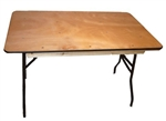 "72"" Square Wood Folding Table"