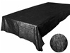 "Black 90 x 132"" Taffeta Tablecloth"