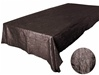 "Chocolate 90 x 132"" Taffeta Tablecloth"