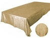 "Champagne 90 x 132"" Taffeta Tablecloth"