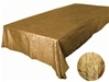 "Gold 90 x 132"" Taffeta Tablecloth"