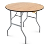 "36"" Round WOOD Table, wholesale prices plywood folding tables, round wood folding table"