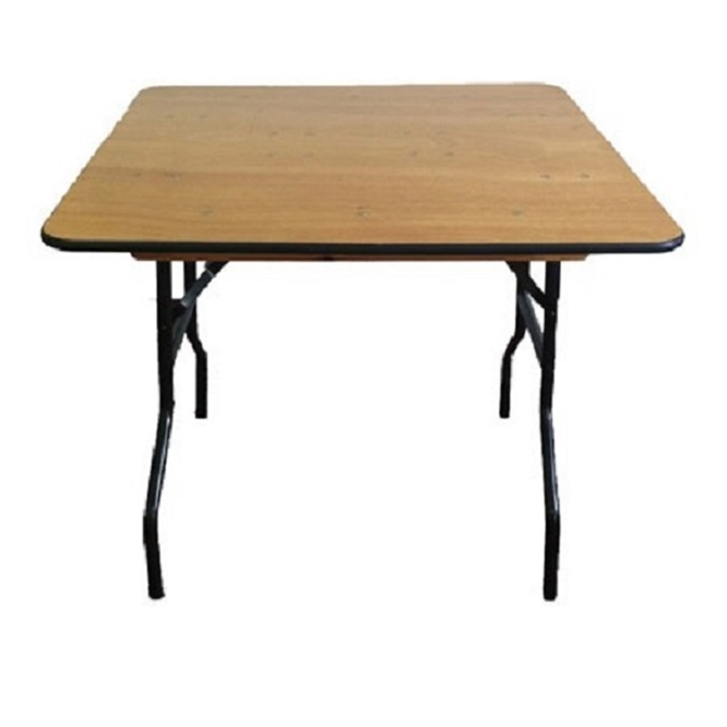 48' Square Plywood Discount Folding Table