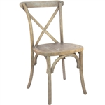 NATURAL DISCOUNT CROSS  X BACK CHAIRS